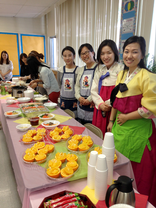 V.V. wonderful Korean Parent's Assoc. serving a delicous lunch for the staff.