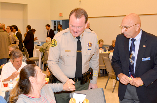 Sheriff Jim McDonnell (seen here at the CV Prayer Breakfast) talks about his Irish heritage and his primary concern as sheriff: human trafficking.