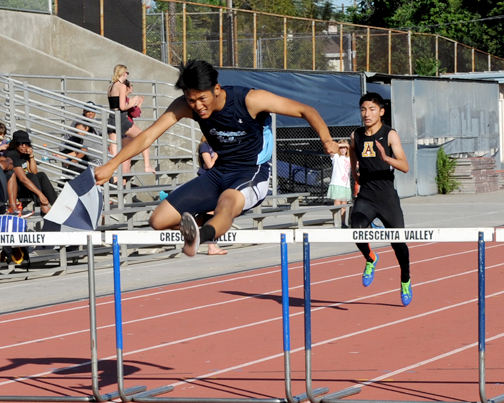 CV's hurdler senior Kenny Kang won the 300IH.