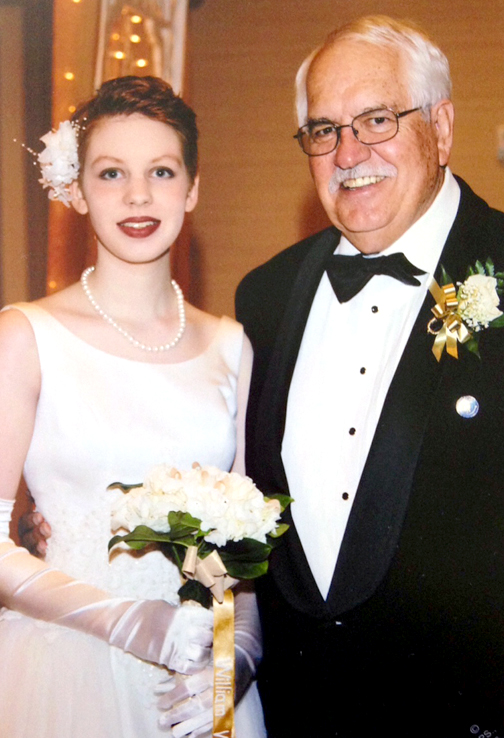 Heidi Annalisa Kielpinski, escorted by grandfather Donald La Marr, was presented to society as debutante at the recent California State Society DAR Conference. Kielpinski is a descendant of two Revolutionary War patriots, Capt. Frederick Cramer and William Willett.