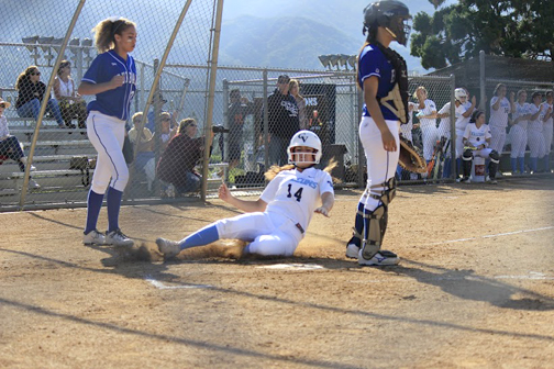 Peyton Haus slides home