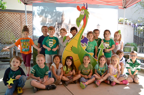 Students from St. George's Yellow Door classroom anticipate a day spent with Georgie the Dragon at Dragon Faire.