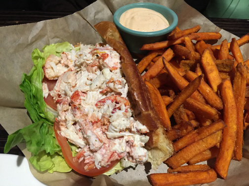 Lobster and Crab roll at Knuckles