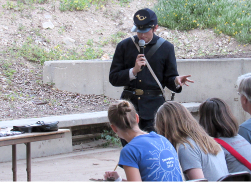 A Northern soldier explained about the weapons used during the Civil War.