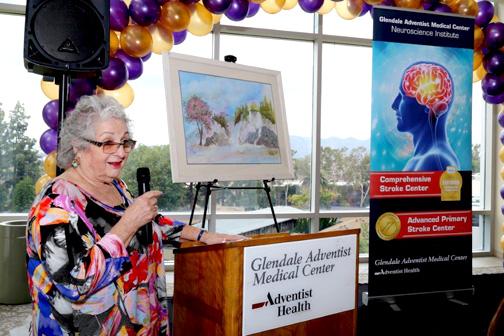 Due to the quick action by emergency responders, stroke survivor and artist Carol Buss is able to continue her work.