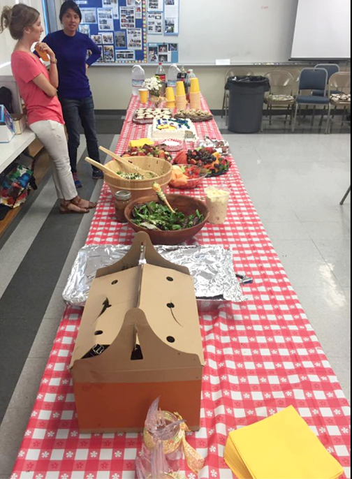 Deliciouse luncheon provided by the PTA - May 2nd