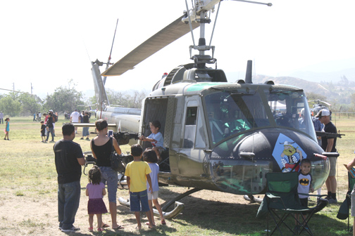 File photo The public is invited to the free American Heroes Air Show taking place at the Hanson Dam Recreation Area in Lake View Terrace on Saturday from 9 a.m. to 4 p.m. Previous shows have featured military helicopters that could be boarded by guests.