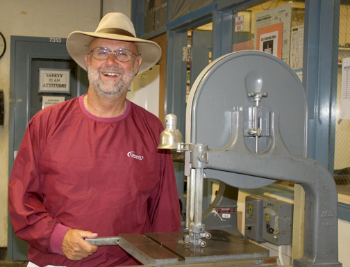 Photos by Jessy SHELTON Rosemont Middle School woodshop teacher Terry Parker has retired from teaching. In 2014, Parker was the recipient of the prestigious Los Angeles County Industrial Technology Education Association Middle School Teacher of the Year.