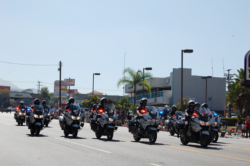 LAPD Motorcycle Corp entertained the crowd.