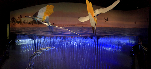 Photos by Charly SHELTON Two Thalassodromeus swoop down into the sea in an impressive diorama.