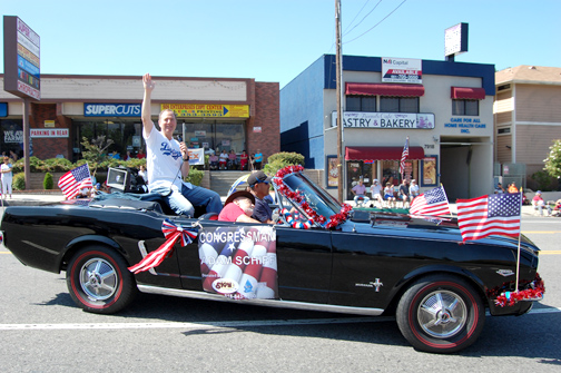 Congressman Adam Schiff rode in the S-T Parade.
