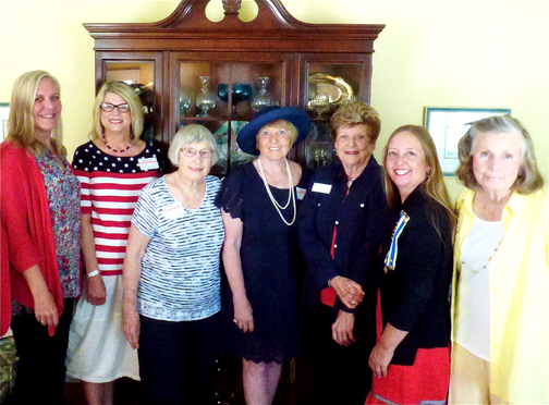 Newly installed members of the Don José Verdugo DAR Chapter's executive board include, from left, Caroline Craven; Jeanette Stirdivant; Betty Jones; Trudi Abram; Elizabeth Craven; Lisa Harley and Penny Phillips. Not present: Amy Toczek.