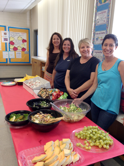 PTA volunteers served lunch