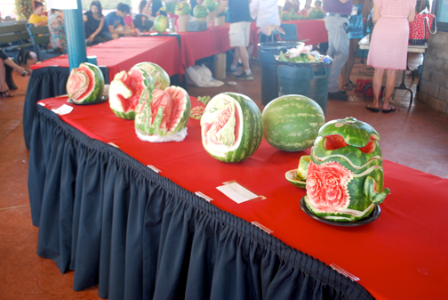 A watermelon carving contest is part of the festivities at the annual Watermelon Festival.
