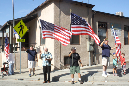 File photo Community members, like veterans at the American Legion Hall, are expected to line foothill streets to commemorate Patriot Day, being held on Sept. 9 this year.