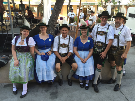File photo Local residents show their enthusiasm for the annual Oktoberfest festival this year taking place on Oct. 1.