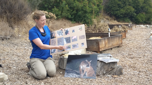 Animal tracker Johanna Turner showed photos of the different tracks that can be found in the Rosemont Preserve.