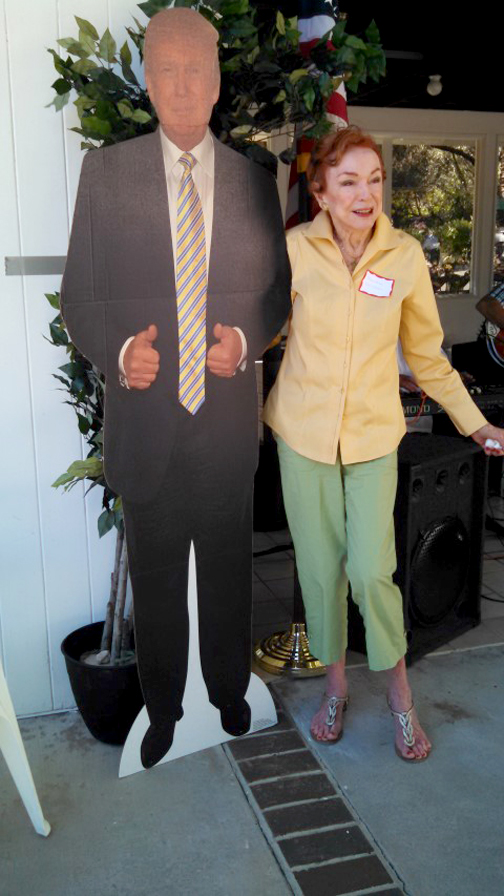 no-5v-the-love-boat-creator-jeraldine-saunders-with-donald-trump-cutout