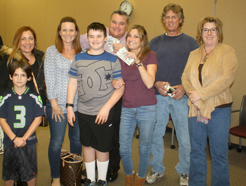 Photos by Jessy SHELTON There were 16 winners at Saturday night's bingo game held at USC Verdugo Hills Hospital.