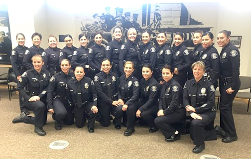 Today's GPD police force has 25 female officers.