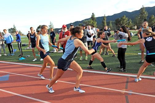 final relay mark upsets dual win