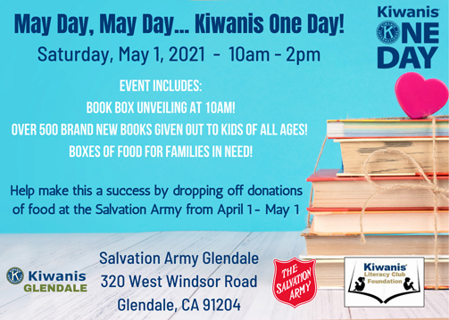 Kiwanis Club of Glendale Presents 'May Day, May Day … Kiwanis One Day!'