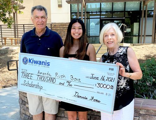 Kiwanis Club of La Cañada Awards Scholarships, Honors Local High School Graduates